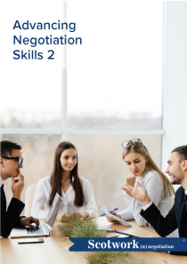 Advancing Negotiation Skills 2
